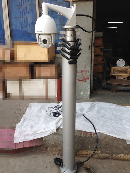Mobile Security Cctv Telescopic Mast System