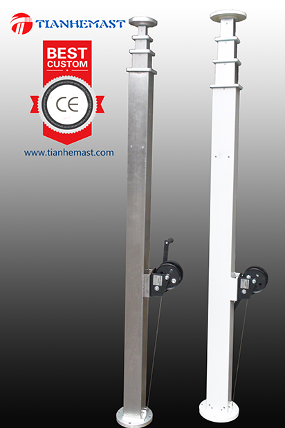 Mechanical Lifting Telescoping Mast Tower Mechanism For