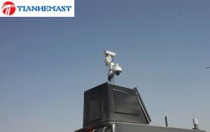 Axis camera both gun type and ball type on top of tower