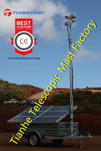 Solar Trailer Mounted Telescopic Mast For Fiji Government