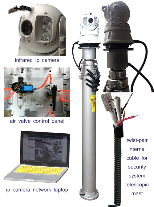 security camera mast construced specification
