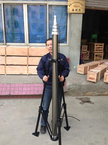 beleuchtung teleskopmast mit standard interne kabel telescopic mast factory tianhemast. Black Bedroom Furniture Sets. Home Design Ideas