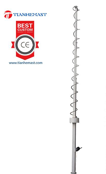 8 meter mast mechanische teleskopstange. Black Bedroom Furniture Sets. Home Design Ideas