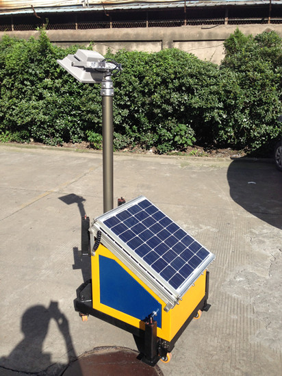 Handy solar led licht turm for Solar licht