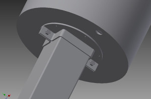 clamp for winch mast